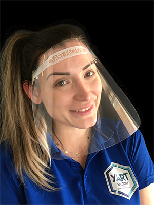 Face shield with personalized ventilation belt